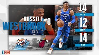 Russell Westbrook's Solid 14 Points, 14 Assist Night vs Heat | February 1st, 2019