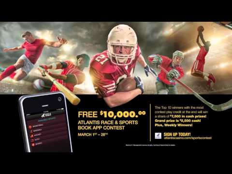 Free $10,000 Atlantis Race and Sports Book App Contest