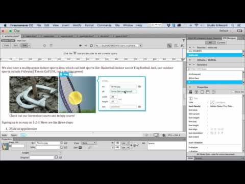 Inserting Images and Media - Dreamweaver CC 2015 tutorial