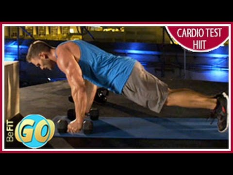 Fat-Burning Cardio Test HIIT Workout: BeFiT GO- 10 Mins