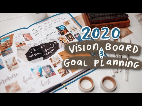 2020 vision board & goal planning spreads! (new year bullet journal ideas)