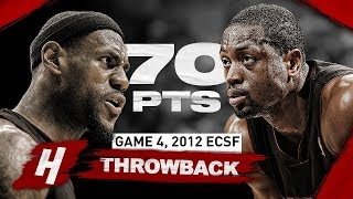 PRIME DUO Dwyane Wade & LeBron James DOMINANT 70 Points Highlights vs Pacers   Game 4, 2012 Playoffs