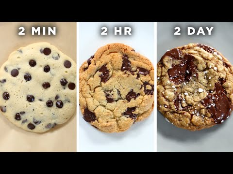 2-Minute Vs. 2-Hour Vs. 2-Day Cookie ?Tasty