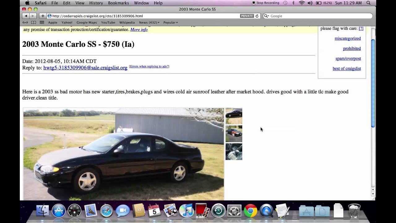 craigslist cedar rapids iowa popular used cars and trucks for sale by owner in 2012 youtube. Black Bedroom Furniture Sets. Home Design Ideas