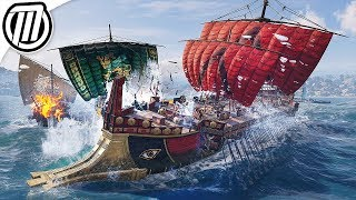 Assassin's Creed Odyssey: Hunting HUGE Spartan Warships! - Open World Gameplay