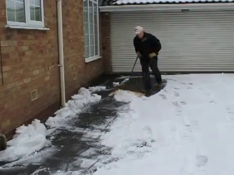 British Pedestrian Push Along Snow Ploughs