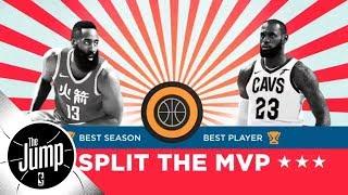 Should LeBron James and James Harden split the MVP award? | The Jump | ESPN