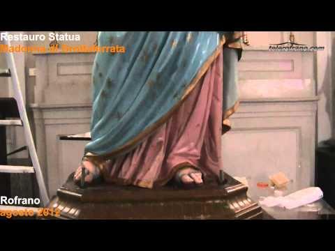 Restauro Madonna di Grottaferrata agosto 2012