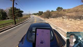 Tesla Autopilot Narrow Winding Hilly Road Challenge - 2020.4.1