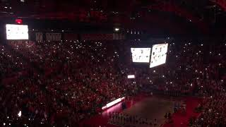 Nebraska volleyball lights up Devaney