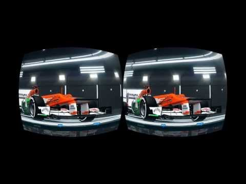 F1 2012 on the Oculus Rift Pt. 2 / 3D testing - Rain Effects - Spa Francorchamps