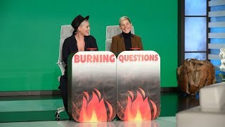 P!nk Answers Ellen's 'Burning Questions'