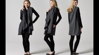 How to Make a Sleeveless Draped Coat | Teach Me Fashion