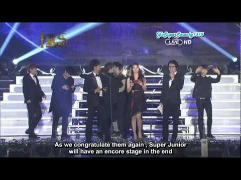 [Eng Sub] 120119 SMA - Daesang + Encore Stage (Super Junior)
