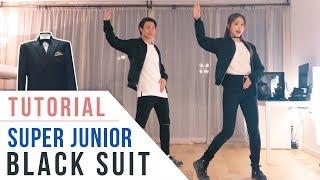 Super Junior 슈퍼주니어 - Black Suit Chorus Dance Tutorial (Mirrored) | Ellen and Brian