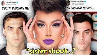 James Charles SHADES the drama and The Dolan's DON'T speak out?