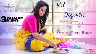 Nil Digante (নীল দিগন্তে)    Rabindra Sangeet   Sarmita Dutta Biswas   Full Video Song
