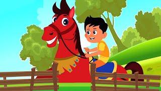 Chal Mere Ghode   Bachon ke Geet    चल मेरे घोड़े टिक टिक टिक   Hindi Rhymes Nursery   Hindi Poems