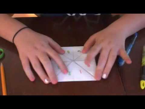 how to make a fortune teller out of printer paper step by step youtube. Black Bedroom Furniture Sets. Home Design Ideas