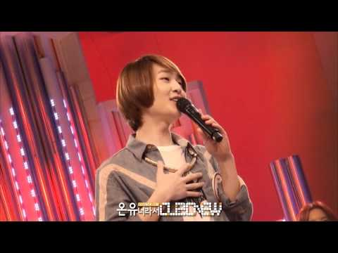 [FANCAM] 120417 Onew singing in high note successfully and getting praised for it @ 1000 Recording