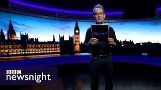 Tom Hollander reads 'Composed upon Westminster Bridge' - BBC Newsnight
