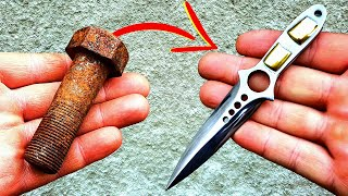 Forging Rusted Bolt into a Sharp CS GO Skeleton Knife
