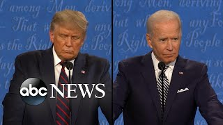 Trump and Biden debate about who would make a better president
