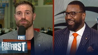 Chris Long gives advice to Rams' defense vs Tom Brady, talks Carson Wentz | NFL | FIRST THINGS FIRST