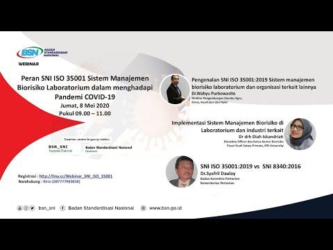 https://www.youtube.com/watch?v=h64Bv2MpCl4Peran SNI ISO 35001 Sistem Manajemen Biorisiko Laboratorium dalam Menghadapi Pandemi Covid-19