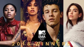 MTV EMAs 2018 WINNERS