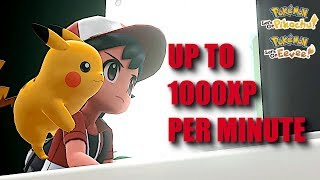 Pokemon Let's Go Pikachu Eevee FAST XP (up to 1000 per minute)