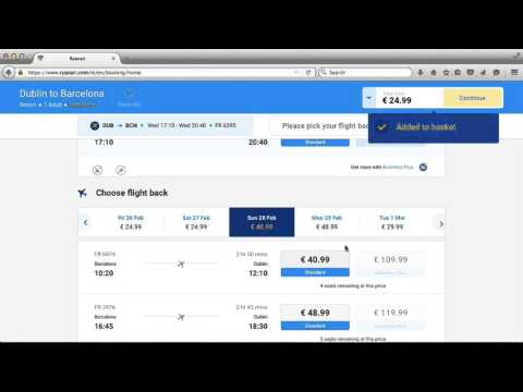 How to Book a Ryanair Flight – Part 2 – Choosing your flights
