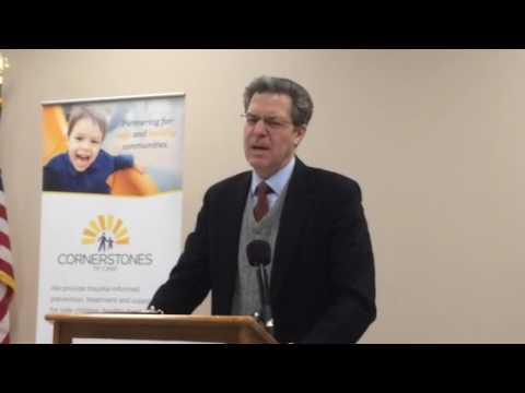 Gov. Sam Brownback speaks about juvenile justice