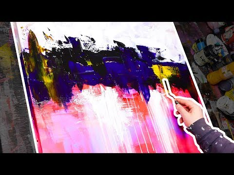 How To Paint An Abstract Painting | Acrylic Painting Demonstration | Intertiatic
