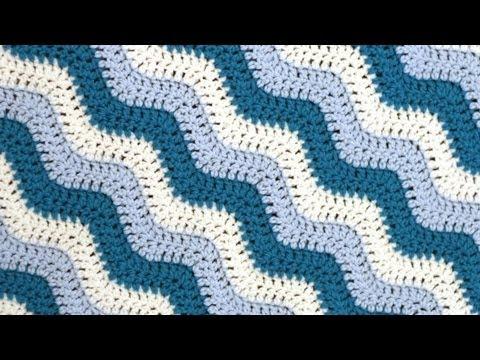 Häkeln Lernen Zickzackmuster Für Babydecke Ripple Stitch Blanket
