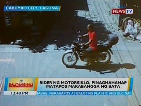 Rider ng motorsiklo, pinaghahanap matapos makabangga ng bata