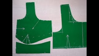 Perfect cross cut blouse cutting in Telugu || Easy method and tips