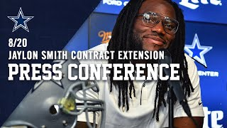 Linebacker Jaylon Smith New Contract Press Conference | Dallas Cowboys