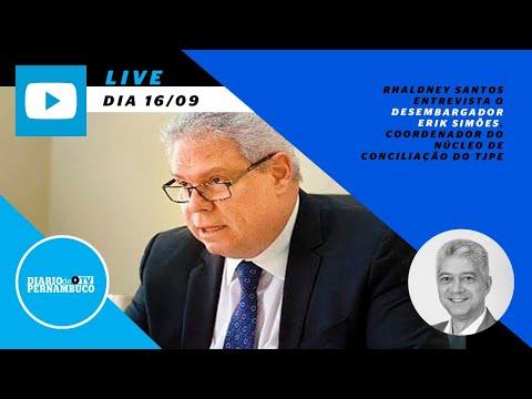 Rhaldney Santos entrevista o desembargador do TJPE Erik Simões