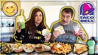 TRYING THE ENTIRE TACO BELL MENU!!