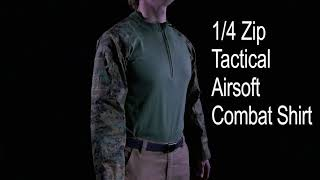 video - 1/4 Zip Tactical Airsoft Combat Shirt Rothco Product Breakdown