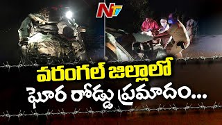 Five killed after speeding lorry rams into car in Telangan..