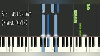 BTS - Spring Day 방탄소년단 - 봄날 (Piano Cover, Synthesia Tutorial) Sheet Music