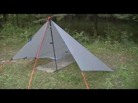 Semi Pyramidal Tarp Setup With Pictures Youtube