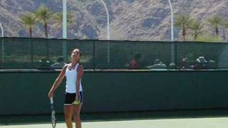 Ana Ivanovic Serving in Slow Motion