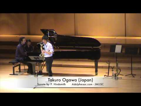 3rd JMLISC Takuro Ogawa (Japan) Sonate by P. Hindemith