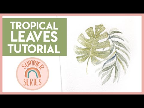 NO SKETCH Watercolour Leaves - Easy Watercolor Tutorial (2019 Summer Series)
