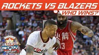 Houston Rockets vs Portland Trail Blazers, Who will win ? | Hoops N Brews
