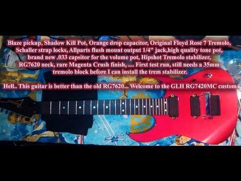 FIrst RG7420 test after upgrading to DiMarzio Blaze 7-String Bridge Pickup/Original Floyd Rose 7