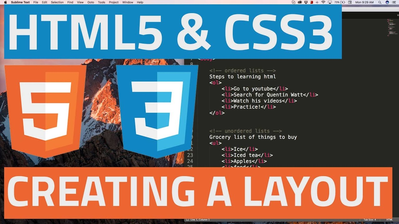 HTML5 and CSS3 beginner tutorial 31 - Creating a simple website layout part 2